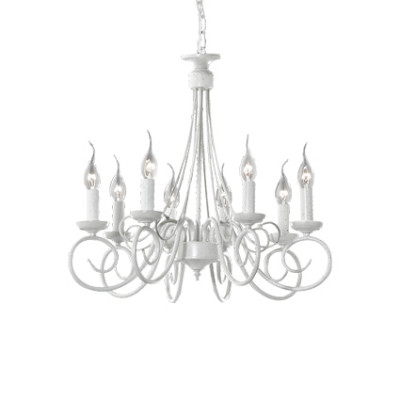 Ideal Lux - Middle Ages - BRANDY SP8 - Lampada a sospensione - Bianco antico - LS-IL-066639