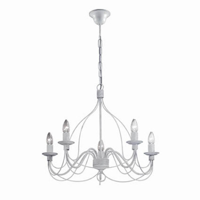 Ideal Lux - Middle Ages - CORTE SP5 - Lampada a sospensione - Bianco antico - LS-IL-005881