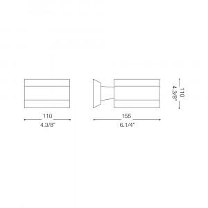 Ideal Lux - Minimal - SNIF AP1 BIG - Applique
