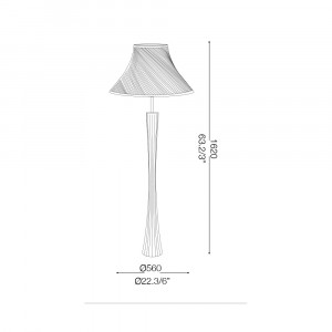 Ideal Lux - Nordico - BIVA-50 PT1 - Piantana