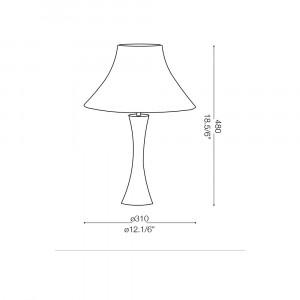 Ideal Lux - Nordico - BIVA-50 TL1 SMALL - Lampada da tavolo