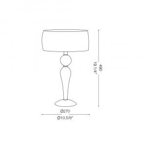 Ideal Lux - Organza - DUCHESSA TL1 SMALL - Lampada da comodino