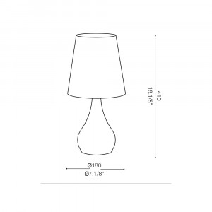 Ideal Lux - Organza - ETERNITY TL1 SMALL - Lampada da tavolo