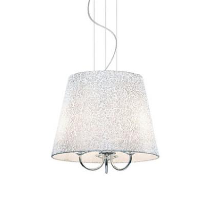 Ideal Lux - Organza - LE ROY SP3 - Lampada a sospensione - Cromo - LS-IL-079387