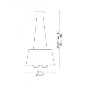 Ideal Lux - Organza - LE ROY SP3 - Lampada a sospensione