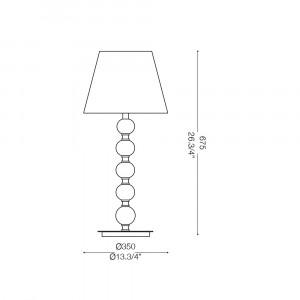 Ideal Lux - Organza - LE ROY TL1 BIG - Lampada da tavolo