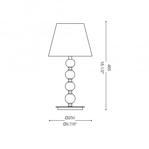 Ideal Lux - Organza - LE ROY TL1 MEDIUM - Lampada da tavolo