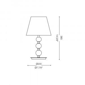 Ideal Lux - Organza - LE ROY TL1 SMALL - Lampada da tavolo