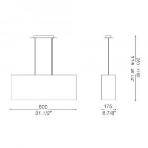 Ideal Lux - Organza - MISSOURI SB6 - Lampada a sospensione
