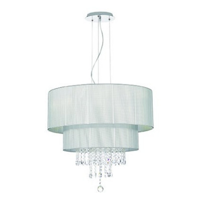 Ideal Lux - Organza - OPERA SP6 - Lampada a sospensione - Argento - LS-IL-122601