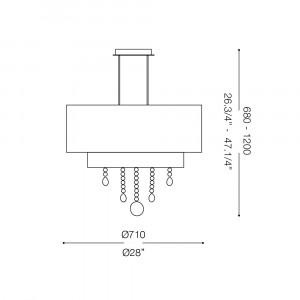 Ideal Lux - Organza - OPERA SP6 - Lampada a sospensione