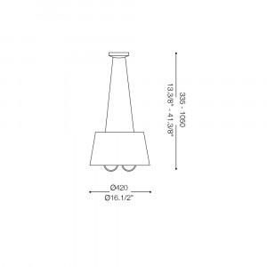 Ideal Lux - Organza - PARIS SP3 - Lampada a sospensione