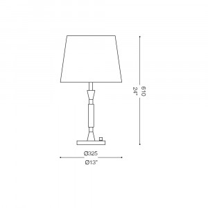 Ideal Lux - Organza - PARIS TL1 BIG - Lampada da tavolo