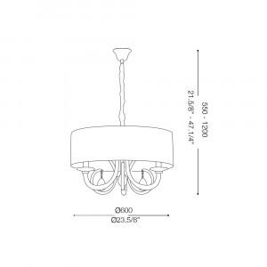 Ideal Lux - Organza - SWAN SP3 - Lampada a sospensione