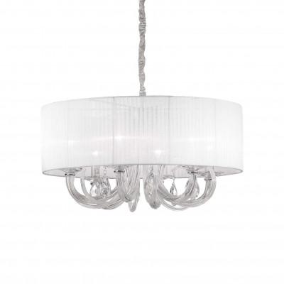 Ideal Lux - Organza - SWAN SP6 - Lampada a sospensione - Bianco - LS-IL-035826