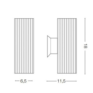 Ideal Lux - Outdoor - Base AP2 - Lampada da parete