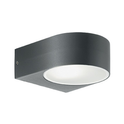 Ideal Lux - Outdoor - Iko AP1 - Applique moderna con doppio diffusore - Antracite - LS-IL-018515