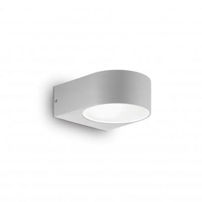 Ideal Lux - Outdoor - Iko AP1 - Applique moderna con doppio diffusore - Grigio - LS-IL-092218