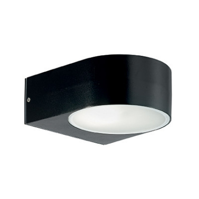 Ideal Lux - Outdoor - Iko AP1 - Applique moderna con doppio diffusore - Nero - LS-IL-018539