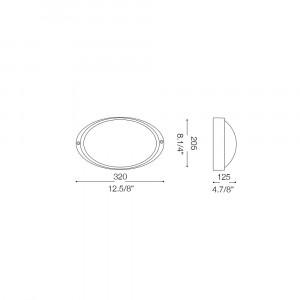 Ideal Lux - Outdoor - MIKE-50 AP1 BIG - Applique da esterno