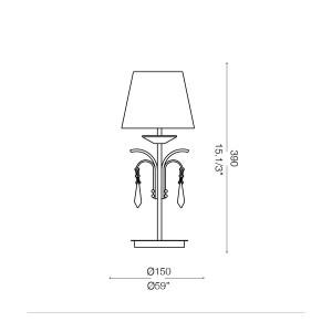 Ideal Lux - Provence - ACCADEMY TL1 SMALL - Lampada da tavolo