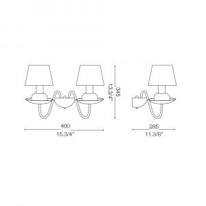 Ideal Lux - Provence - BLANCHE AP2 - Applique