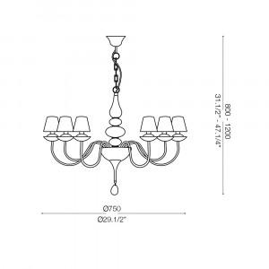 Ideal Lux - Provence - BLANCHE SP6 - Lampada a sospensione