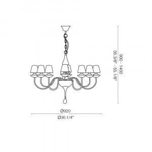 Ideal Lux - Provence - BLANCHE SP8 - Lampada a sospensione