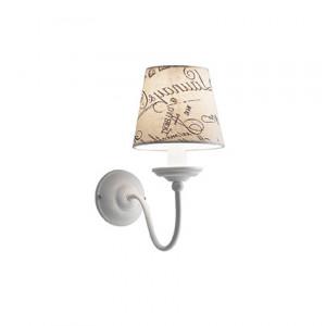 Ideal Lux - Provence - Coffee AP1 - Lampada da parete con scritte vintage