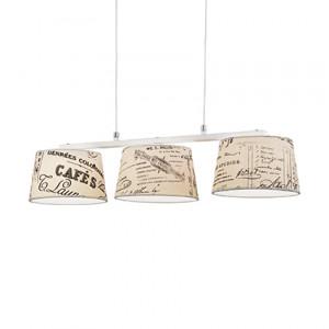 Ideal Lux - Provence - Coffee SB3 - Lampada a sospensione vintage a tre luci
