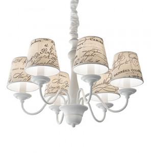 Ideal Lux - Provence - Coffee SP6 - Lampada a sospensione vintage a sei luci