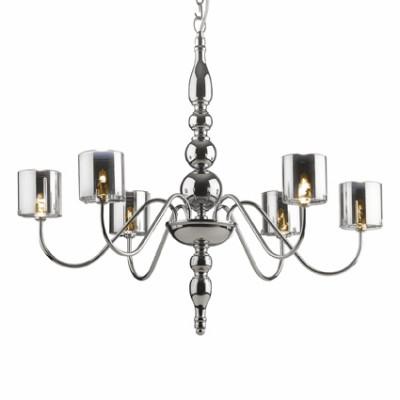 Ideal Lux - Provence - DUCA SP6 - Lampada a sospensione - Cromo - LS-IL-004556