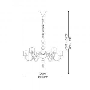 Ideal Lux - Provence - DUCA SP6 - Lampada a sospensione