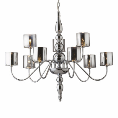 Ideal Lux - Provence - DUCA SP9 - Lampada a sospensione - Cromo - LS-IL-031712