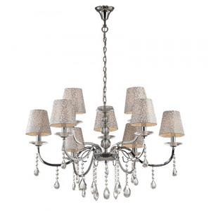 Ideal Lux - Provence - Pantheon SP9 - Sospensione da 9 luci con paralumi decorati
