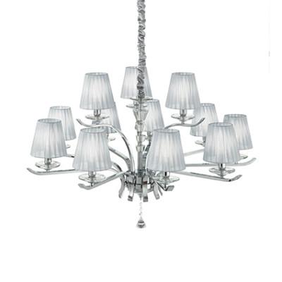 Ideal Lux - Provence - PEGASO SP12 - Lampada a sospensione - Argento - LS-IL-164205