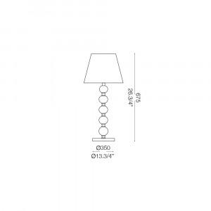 Ideal Lux - Provence - QUEEN TL1 BIG - Lampada da tavolo