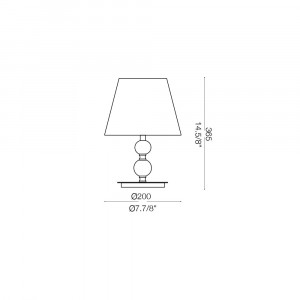 Ideal Lux - Provence - QUEEN TL1 SMALL- Lampada da tavolo