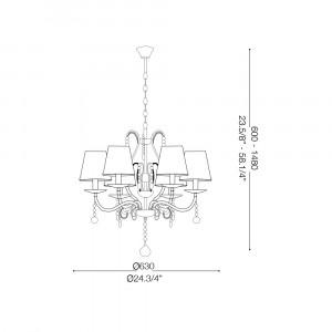 Ideal Lux - Provence - SENIX SP6 - Lampada a sospensione