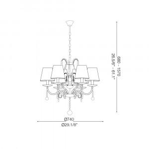 Ideal Lux - Provence - SENIX SP9 - Lampada a sospensione