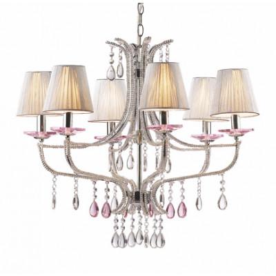 Ideal Lux - Provence - VIOLETTE SP6 - Lampada a sospensione - Argento - LS-IL-015439
