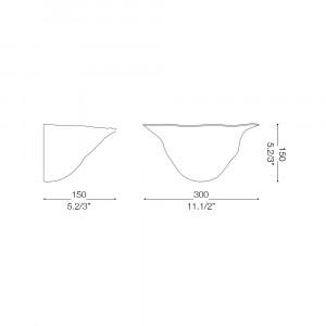 Ideal Lux - Rustic - FOGLIA AP1 D30 - Applique