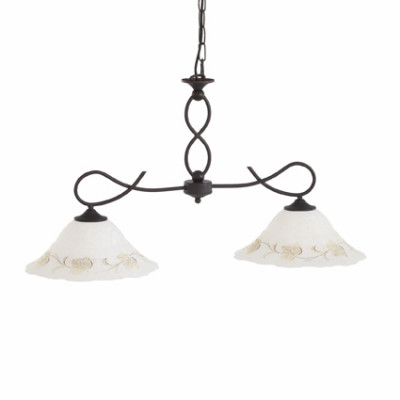 Ideal Lux - Rustic - FOGLIA BI2 SMALL - Lampada a sospensione - Ambra - LS-IL-021416