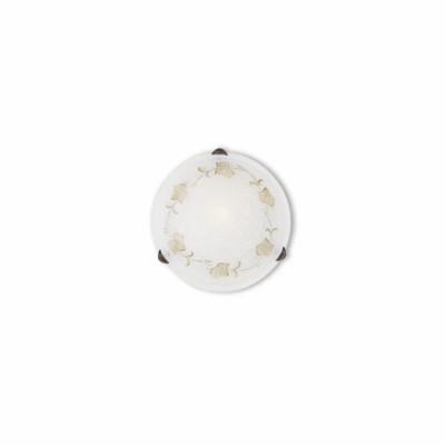 Ideal Lux - Rustic - FOGLIA PL1 D30 - Plafoniera - Ambra - LS-IL-013794