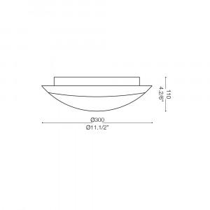 Ideal Lux - Rustic - FOGLIA PL1 D30 - Plafoniera