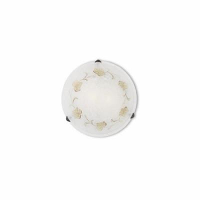 Ideal Lux - Rustic - FOGLIA PL2 D40 - Plafoniera - Ambra - LS-IL-013800