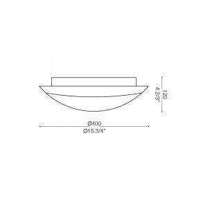 Ideal Lux - Rustic - FOGLIA PL2 D40 - Plafoniera