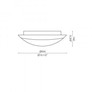 Ideal Lux - Rustic - FOGLIA PL3 D50 - Plafoniera