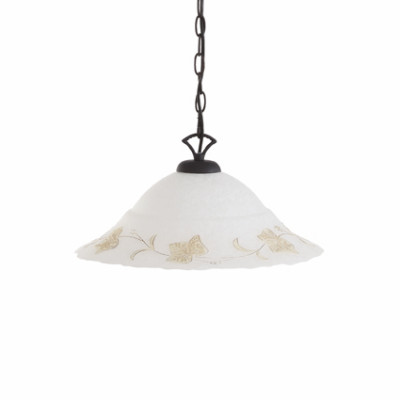 Ideal Lux - Rustic - FOGLIA SP1 D50 - Lampada a sospensione - Ambra - LS-IL-021430