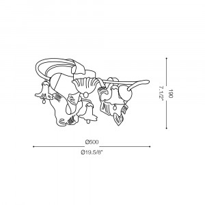 Ideal Lux - Rustic - TIROL PL3 - Lampada da soffitto